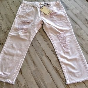 Denim - New with tags Litz Pink  destroyed Cropped s 4